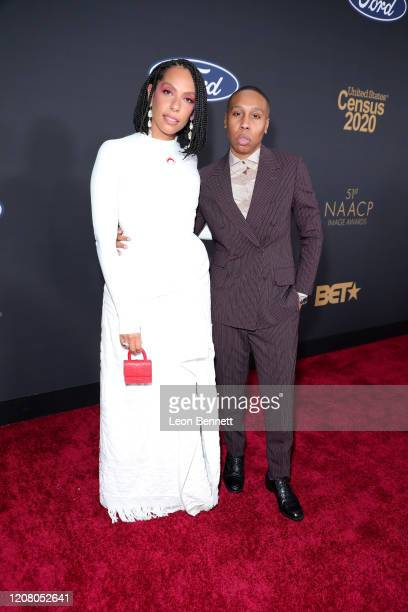 Melina Matsoukas and Lena Waithe attend the 51st NAACP Image Awards Presented by BET at Pasadena Civic Auditorium on February 22 2020 in Pasadena...