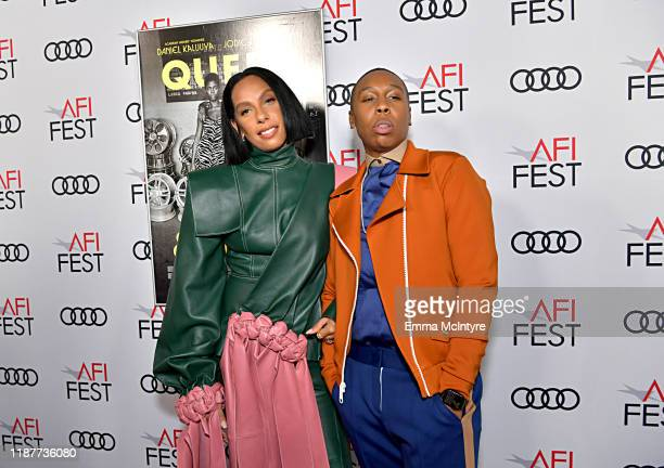 Melina Matsoukas and Lena Waithe attend the Queen Slim Premiere at AFI FEST 2019 presented by Audi at the TCL Chinese Theatre on November 14 2019 in...