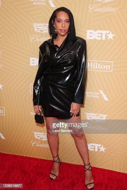 Melina Matsoukas attends American Black Film Festival Honors Awards Ceremony at The Beverly Hilton Hotel on February 23, 2020 in Beverly Hills,...