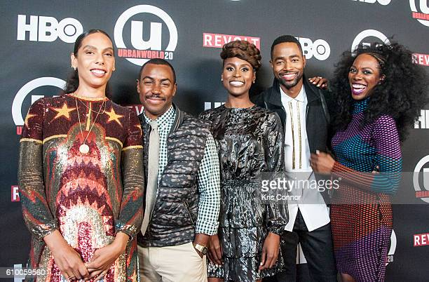 Melina Matsoukas Prentice Penny Issa Rae Jay Ellis and Yvonne Orji attend the screening of HBO's new sitcom Insecure during the 2016 Urbanworld Film...