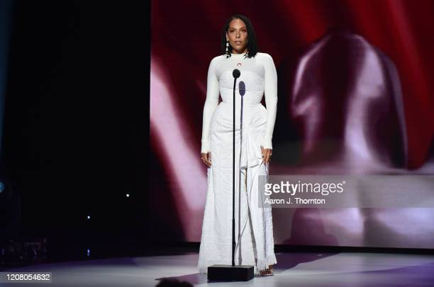 Melina Matsoukas speaks onstage during the 51st NAACP Image Awards Presented by BET at Pasadena Civic Auditorium on February 22 2020 in Pasadena...