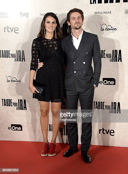 Melina Matthews and Raul Arevalo attend the 'Tarde Para la Ira' premiere at Capitol cinema on September 8 2016 in Madrid Spain
