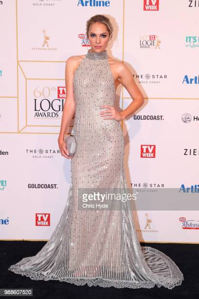 Melina Vidler arrives at the 60th Annual Logie Awards at The Star Gold Coast on July 1 2018 in Gold Coast Australia