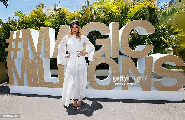 Melina Vidler attends Magic Millions Raceday on January 14, 2017 in Gold Coast, Australia.