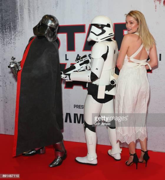 Melina Vidler attends Star Wars The Last Jedi Sydney Screening Event on December 13 2017 in Sydney Australia