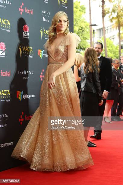 Melina Vidler attends the 7th AACTA Awards Presented by Foxtel | Ceremony at The Star on December 6 2017 in Sydney Australia