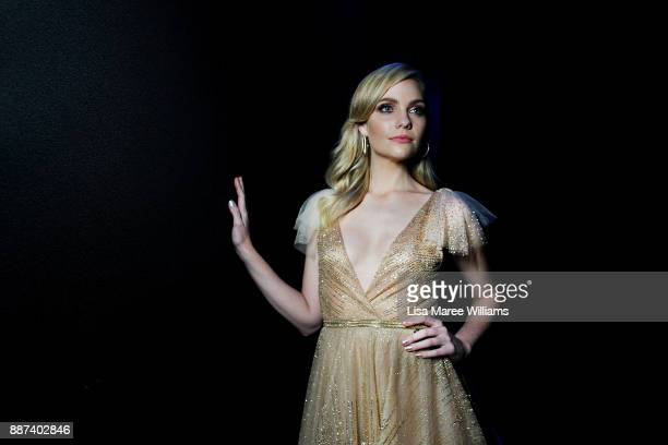 Melina Vidler poses backstage during the 7th AACTA Awards Presented by Foxtel at The Star on December 6 2017 in Sydney Australia