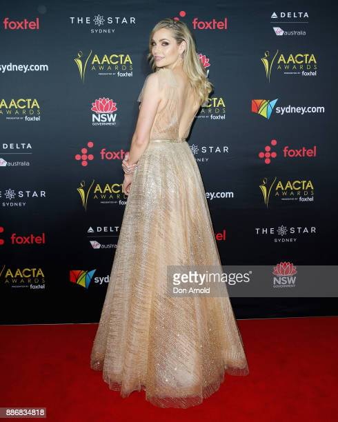 Melina Vidler poses during the 7th AACTA Awards at The Star on December 6 2017 in Sydney Australia