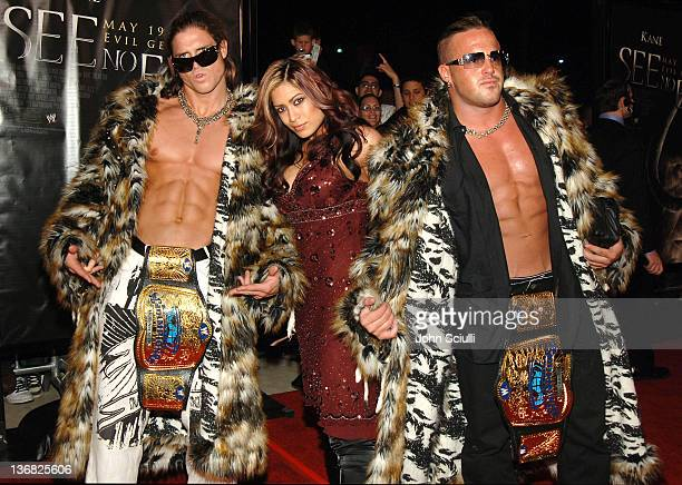 """Melina, WWE Diva and MNM during """"See No Evil"""" Premiere - Arrivals in Los Angeles, California, United States."""