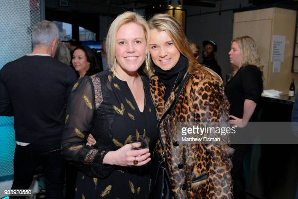 Melinda Anderson and Allison Aston attend the John Moore Undocumented Book Launch at Neuehouse on March 27 2018 in New York City