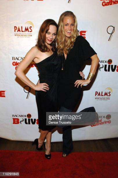 Melinda Clarke and Michele Merkin during Bacardi Global Gathering 2006 - B Live Red Carpet at The Pool At The Palms Hotel and Casino Resort in Las...