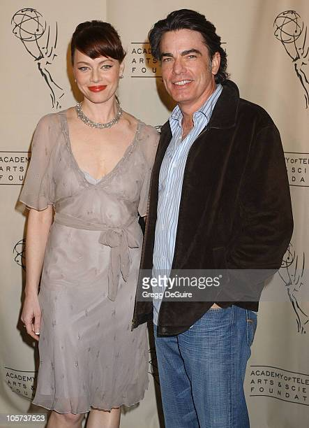 Melinda Clarke and Peter Gallagher during Academy of Television Arts Sciences Presents The OC Revealed at Steven Ross Theatre/Warner Bros Studios in...