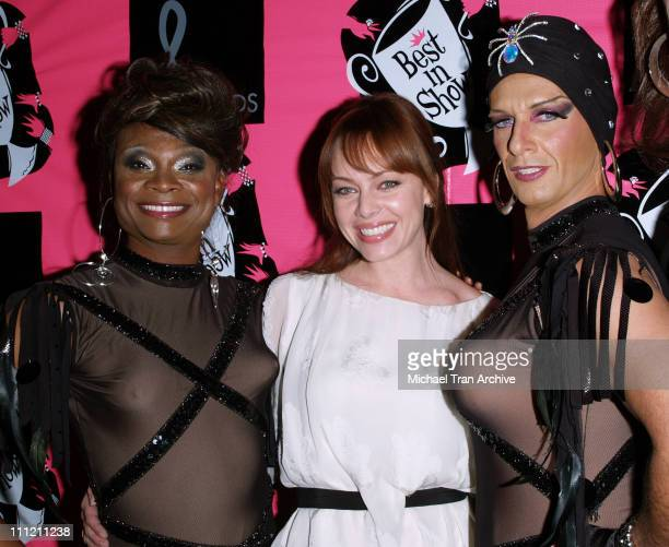Melinda Clarke and The Dobermans during 4th Annual Best in Drag Show to Benefit Aid for AIDS at WilshireEbell Theater in Los Angeles California...