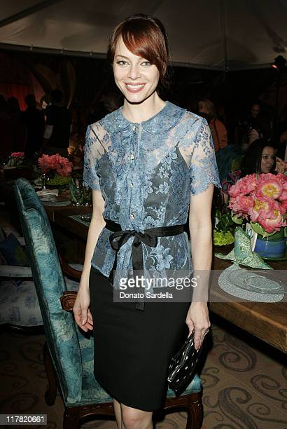 Melinda Clarke during Disney's Alice in Wonderland Mad Tea Party at Private Residence in Los Angeles California United States
