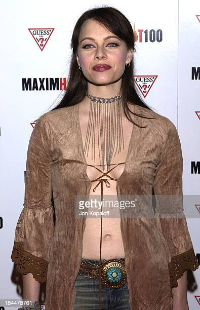 Melinda Clarke during Maxim Hot 100 Party Arrivals at Yamashiro in Hollywood California United States