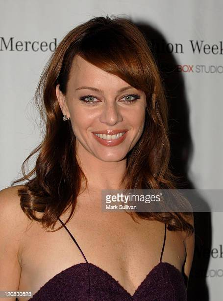 Melinda Clarke during MercedesBenz Spring 2007 LA Fashion Week at Smashbox Studios Arrivals Day 4 at Smashbox Studios in Culver City California...