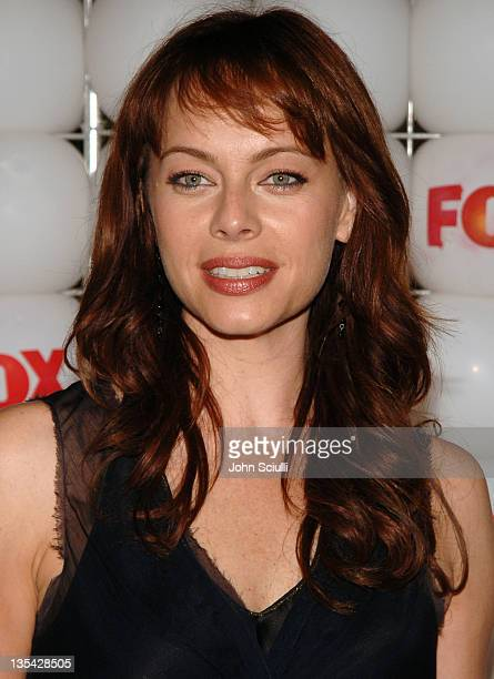 Melinda Clarke of The OC during FOX Summer 2005 AllStar Party Red Carpet at Santa Monica Pier in Santa Monica California United States