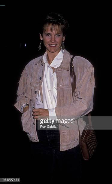 Melinda Culea attends the screening of Perfect Witness on October 10 1989 at the Director's Guild Theater in Hollywood California
