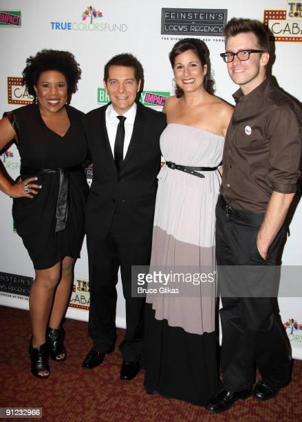 Melinda Doolittle, Michael Feinstein, Stephanie J. Block and Gavin Creel attend the True Colors Cabaret at Feinstein's on September 28, 2009 in New...