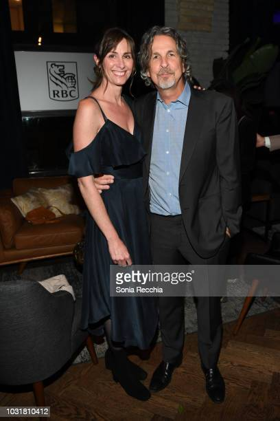 Melinda Farrelly and Peter Farrelly attend RBC hosted Green Book Cocktail Party at RBC House Toronto Film Festival on September 11 2018 in Toronto...
