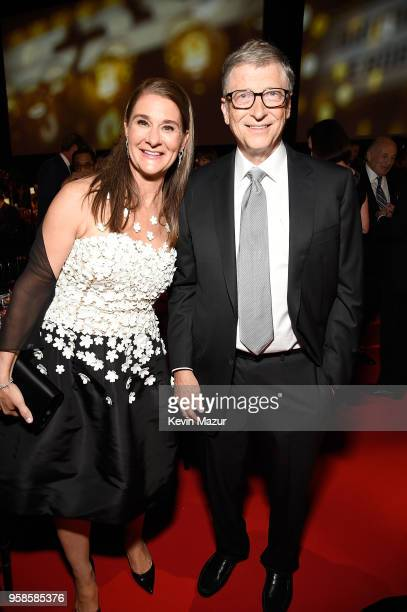 Melinda Gates and Bill Gates attend The Robin Hood Foundation's 2018 benefit at Jacob Javitz Center on May 14 2018 in New York City