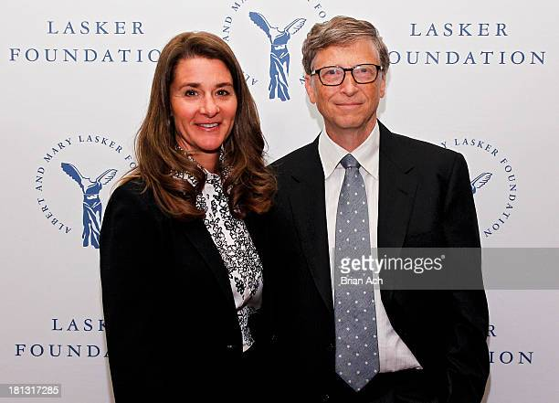 Melinda Gates and Bill Gates of the Gates Foundation winners of the Public Service Award are seen during the The Lasker Awards 2013 on September 20...
