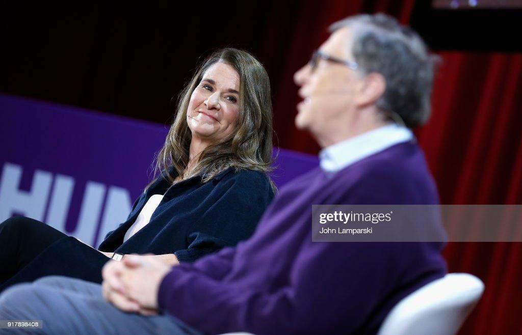 Lin-Manuel Miranda In Conversation With Bill & Melinda Gates : News Photo