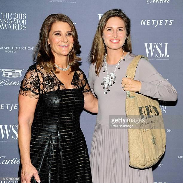 Melinda Gates and Lauren Bush attend the WSJ Mag Innovator Awards 2016 Arrivals at The Museum of Modern Art on November 2 2016 in New York City