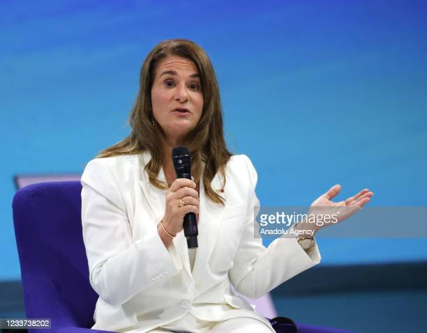 Melinda Gates, co-founder of the Bill and Melinda Gates Foundation attends during the Generation Equality Forum at the at Carrousel du Louvre in...