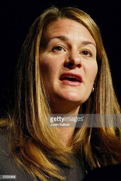 Melinda Gates, co-founder of the Bill & Melinda Gates Foundation, delivers a keynote address at the 2003 National Conference of State Legislatures...