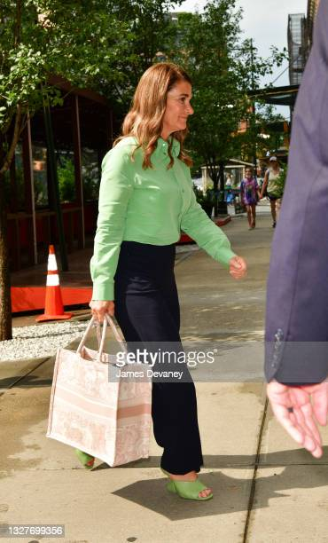 Melinda Gates seen on the streets of Manhattan on July 08, 2021 in New York City.