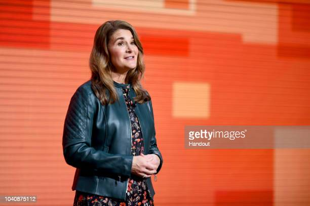 Melinda Gates speaks at The Goalkeepers 2018 Event at Jazz at Lincoln Center on September 26 2018 in New York City Goalkeepers is a multiyear...