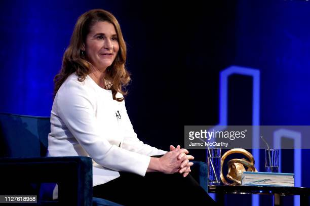 Melinda Gates speaks during Oprah's SuperSoul Conversations at PlayStation Theater on February 05 2019 in New York City
