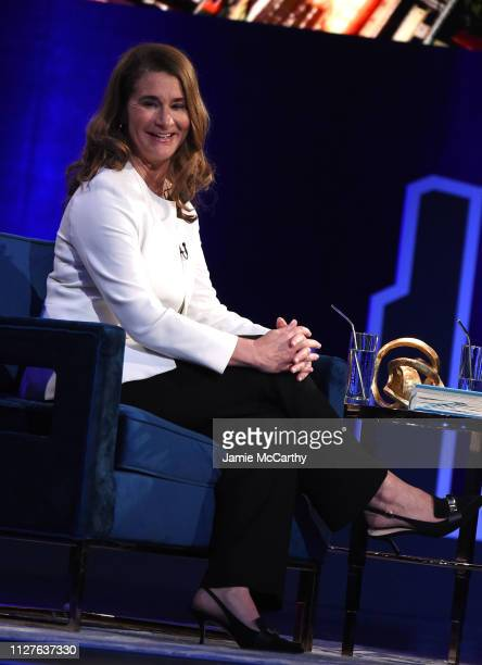 Melinda Gates speaks onstage at Oprah's SuperSoul Conversations at PlayStation Theater on February 05 2019 in New York City