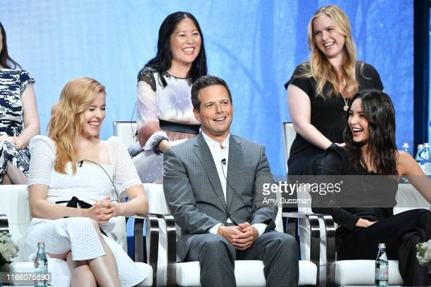 Melinda Hsu Taylor Lis Rowinski Kennedy McMann Scott Wolf and Maddison Jaizani attend 2019 Summer TCA Press Tour Day 13 at The Beverly Hilton Hotel...