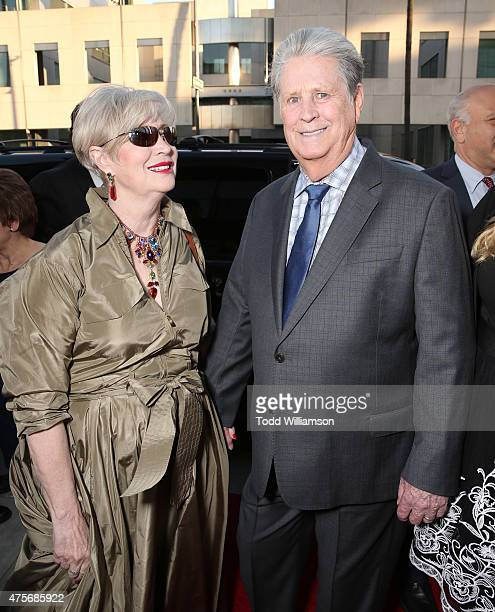 """Melinda Ledbetter and Brian Wilson attend the Roadside Attractions' Premiere Of """"Love & Mercy"""" at the Samuel Goldwyn Theater on June 2, 2015 in..."""