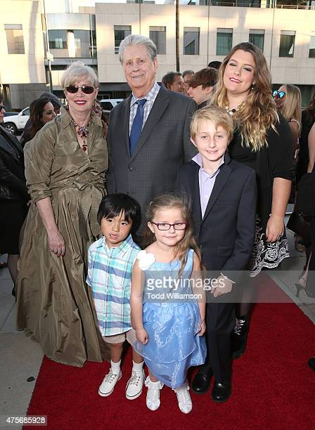 Melinda Ledbetter and Brian Wilson with children Dash Wilson Dakota Wilson Dillon Wilson and Daria Wislon attend the Roadside Attractions' Premiere...