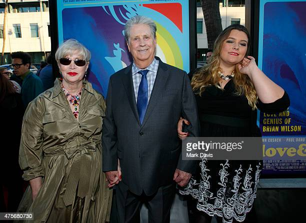 Melinda Ledbetter Brian Wilson and Carnie Wilson arrives at the premiere of Lionsgate And Roadside Attractions' 'Love Mercy' at AMPAS Samuel Goldwyn...