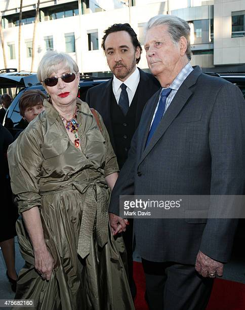 Melinda Ledbetter John Cusack and Brian Wilson arrive at the premiere of Lionsgate And Roadside Attractions' 'Love Mercy' at AMPAS Samuel Goldwyn...
