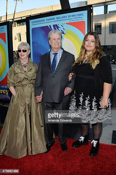 Melinda Ledbetter musician Brian Wilson and guest arrive at the Love Mercy Los Angeles premiere at the Samuel Goldwyn Theater on June 2 2015 in...