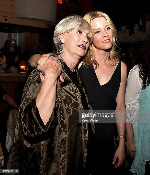 Melinda Ledbetter Wilson and actress Elizabeth Banks pose at Roadside Attraction's Love and Mercy DVD release and music celebration with Brian Wilson...