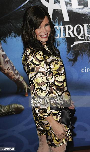 Melinda Messenger arrives at the premiere for the new Cirque Du Soleil production Alegria at the Royal Albert Hall on January 5 2007 in London England