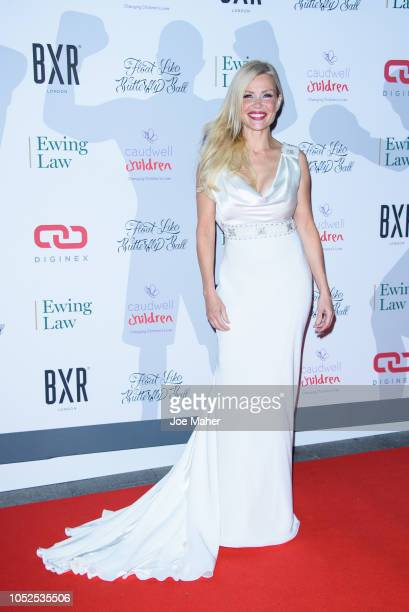Melinda Messenger attends the 2018 Float Like A Butterfly Ball at The Grosvenor House Hotel on October 19 2018 in London England