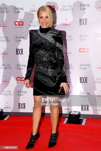 Melinda Messenger during the Float Like A Butterfly Ball for Caudwell Children VIP drinks reception at The Grosvenor House Hotel on November 16 2019...