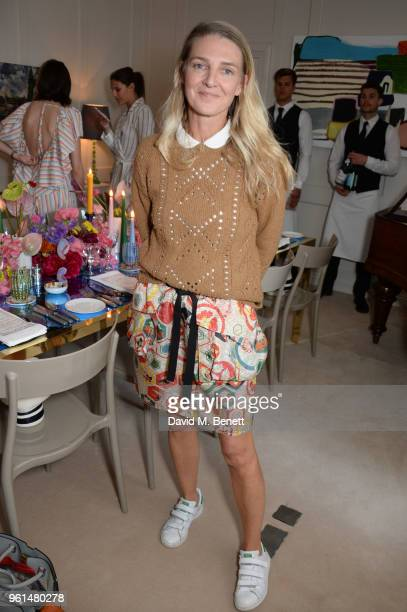 Melinda Stevens attends the NETAPORTER dinner hosted by Alison Loehnis to celebrate the launch of Rosie Assoulin's exclusive collection on May 22...