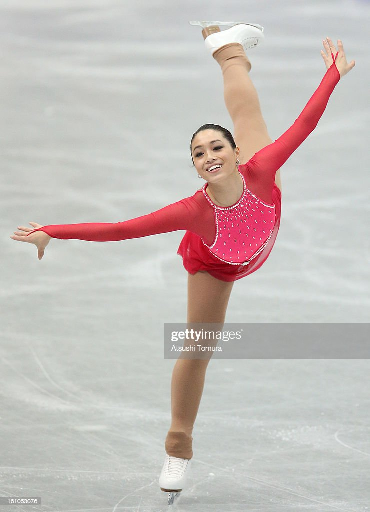 Melinda Wang of Chinese Taipei competes in the Women's Short Program during day two of the ISU Four Continents Figure Skating Championships at Osaka Municipal Central Gymnasium on February 9, 2013 in Osaka, Japan.