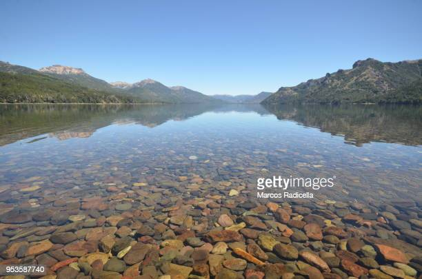 meliquina lake, patagonia - radicella stock photos and pictures