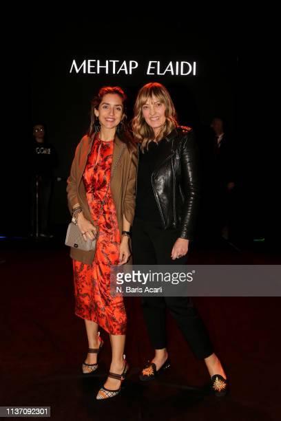 Melis Agazat and Isin Gormus attend the MercedesBenz Fashion Week Istanbul March 2019 at Zorlu Center on March 20 2019 in Istanbul Turkey