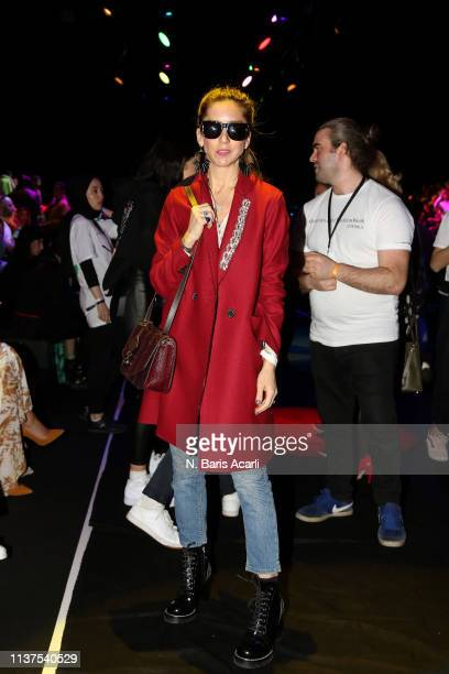 Melis Agazat attends the Exquise show during MercedesBenz Fashion Week Istanbul March 2019 at Zorlu Center on March 22 2019 in Istanbul Turkey