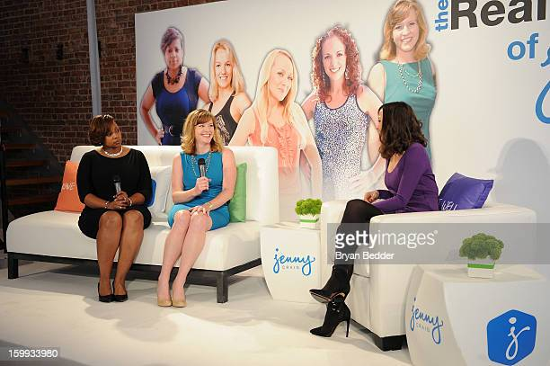 Melisa Douglas Sloane Maymon and TV personality Christina McLarty speak onstage at the Jenny Craig private event on January 23 2013 in New York City